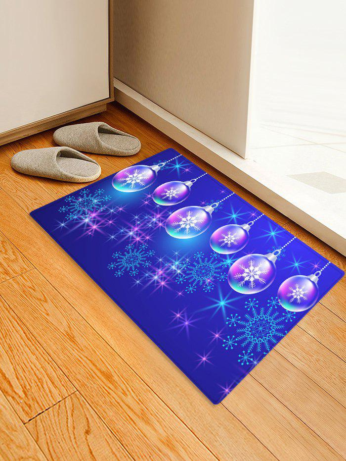 Discount Christmas Ball and Snowflake Printing Non-slip Area Rug