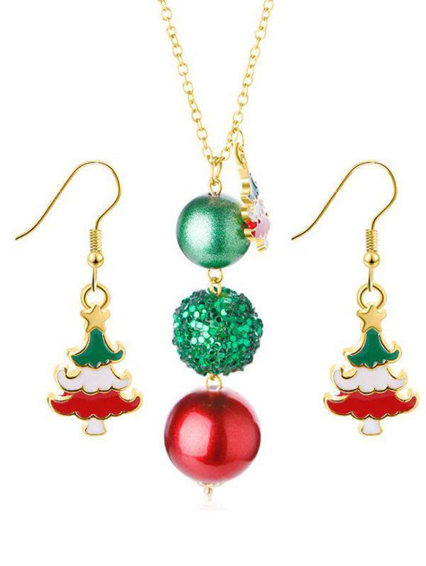 Online Sequins Ball Design Christmas Tree Earrings Necklace