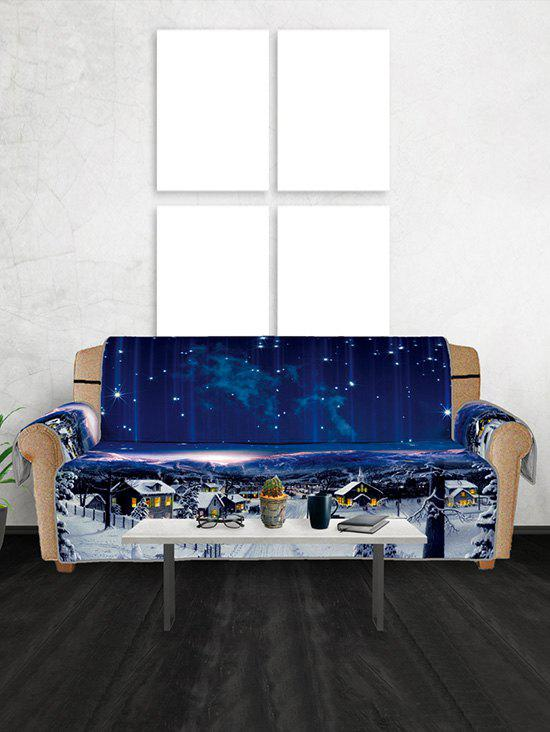 Store Christmas Starry Sky Pattern Couch Cover