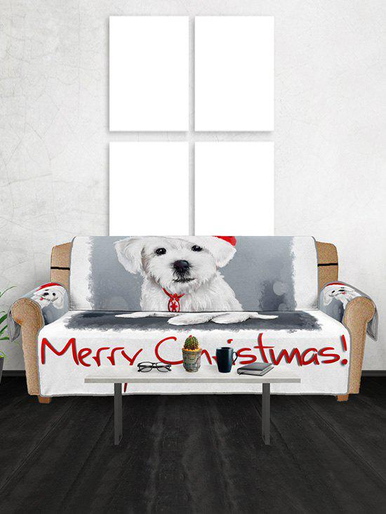 Chic Merry Christmas Dog Pattern Couch Cover