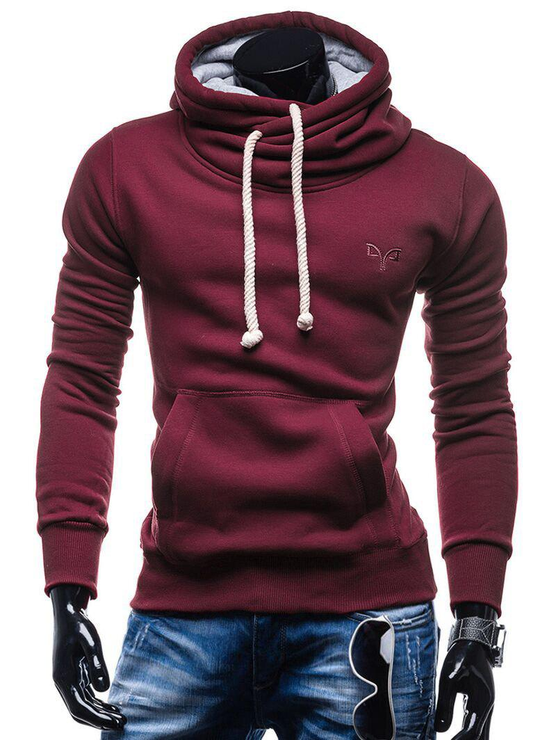Sale Whole Colored Drawstring Casual Hoodie