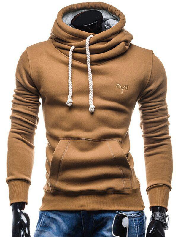 Affordable Whole Colored Drawstring Casual Hoodie