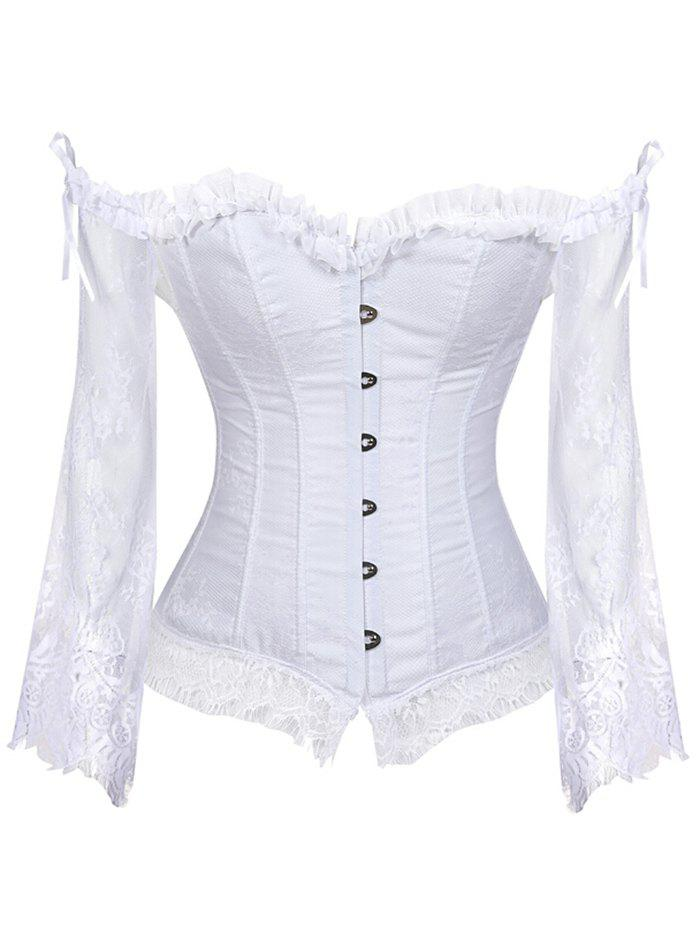 Affordable Lace Insert Flare Sleeve Corset