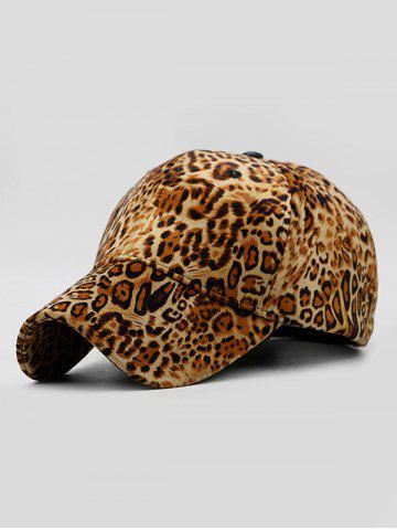 Leopard Pattern Adjustable Baseball Cap