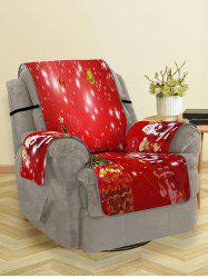 Christmas Tree Santa Pattern Couch Cover -