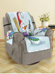 Christmas Snowman Bird Pattern Couch Cover -