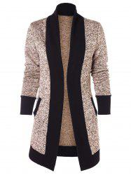 Two Tone Knit Cardigan -