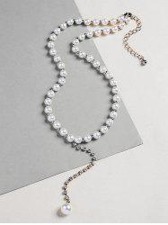 Rhinestoned Beaded Artificial Pearl Necklace -