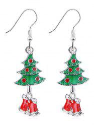 Christmas Tree Rhinestone Design Hook Earrings -