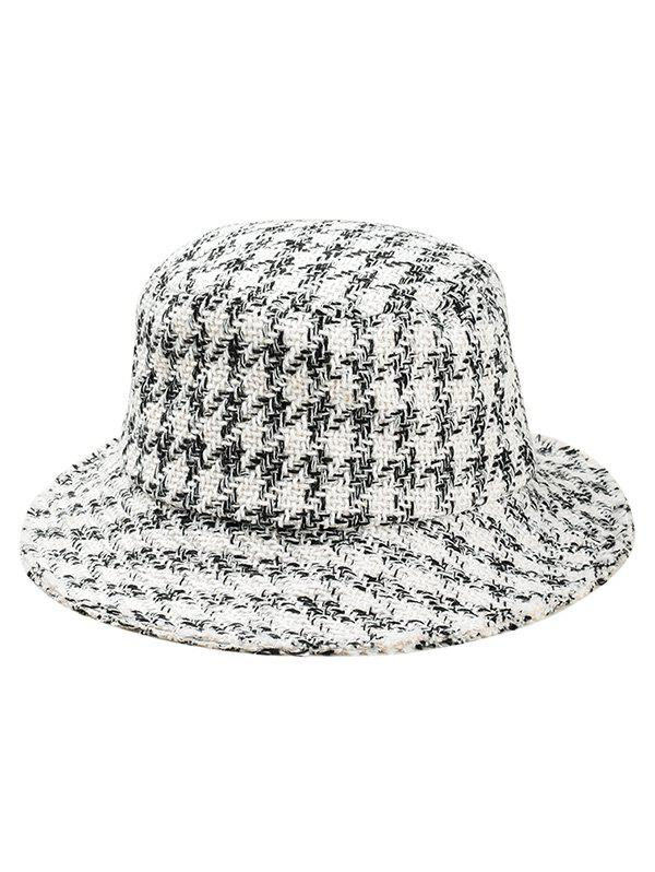 2018 Houndstooth Pattern Bucket Hat In White  9c0c5eb56e4