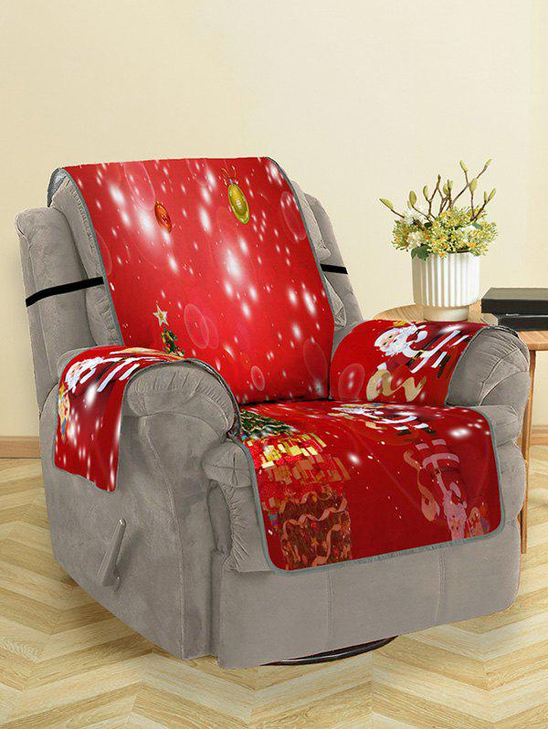 Fancy Christmas Tree Santa Pattern Couch Cover