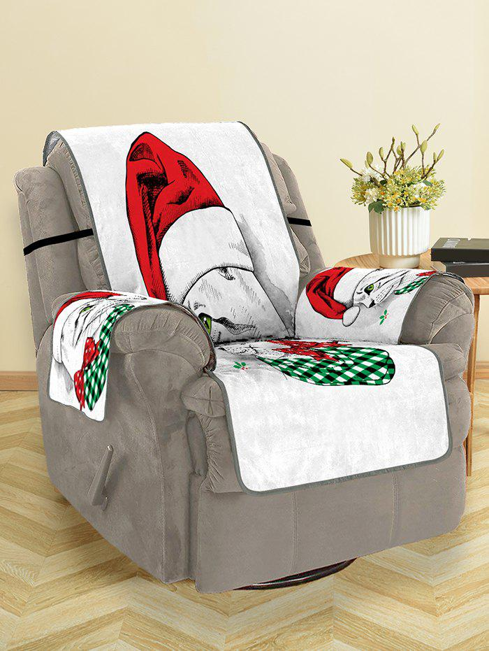 Shop Christmas Cat Pattern Sofa Cover