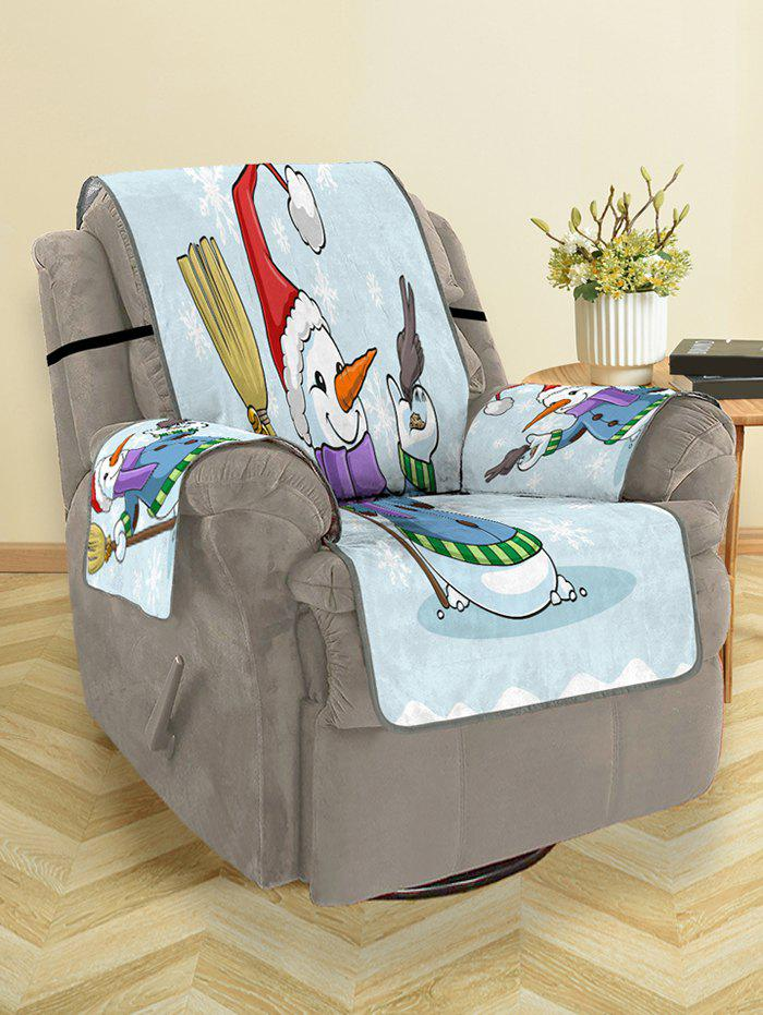 Discount Christmas Snowman Bird Pattern Couch Cover