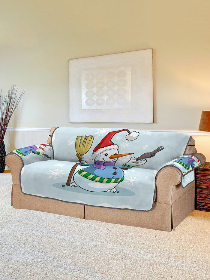 Affordable Christmas Snowman Bird Pattern Couch Cover