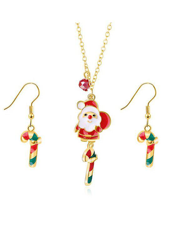 Discount Christmas Santa and Gift Printed Jewelry Set