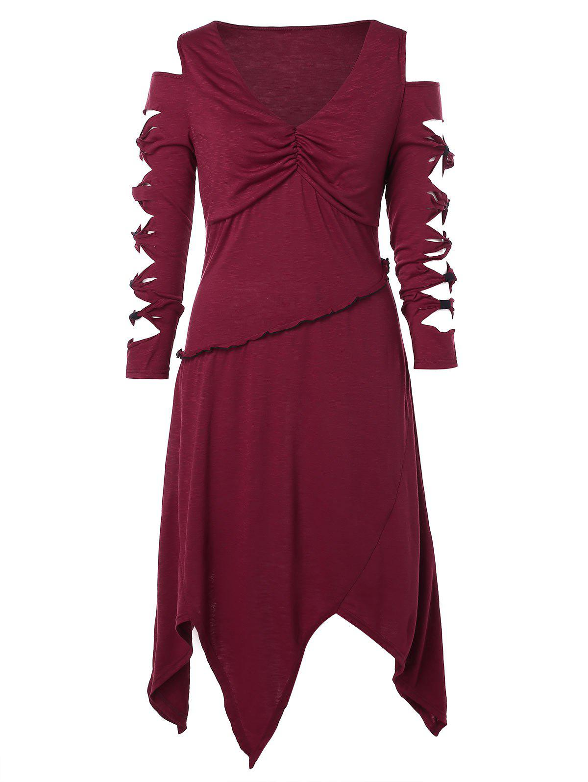 Best Plus Size Cut Out Knotted Handkerchief Dress