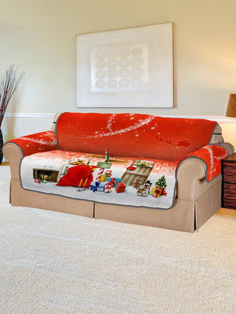 Trendy Christmas Heart Pattern Couch Cover