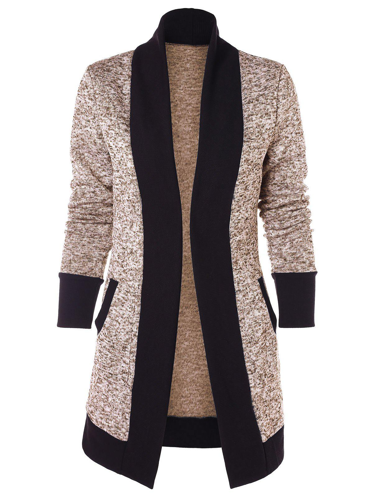 Hot Two Tone Knit Cardigan
