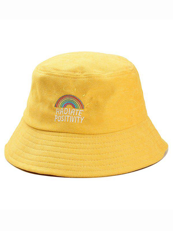 Shop Rainbow Embroidery Corduroy Bucket Hat