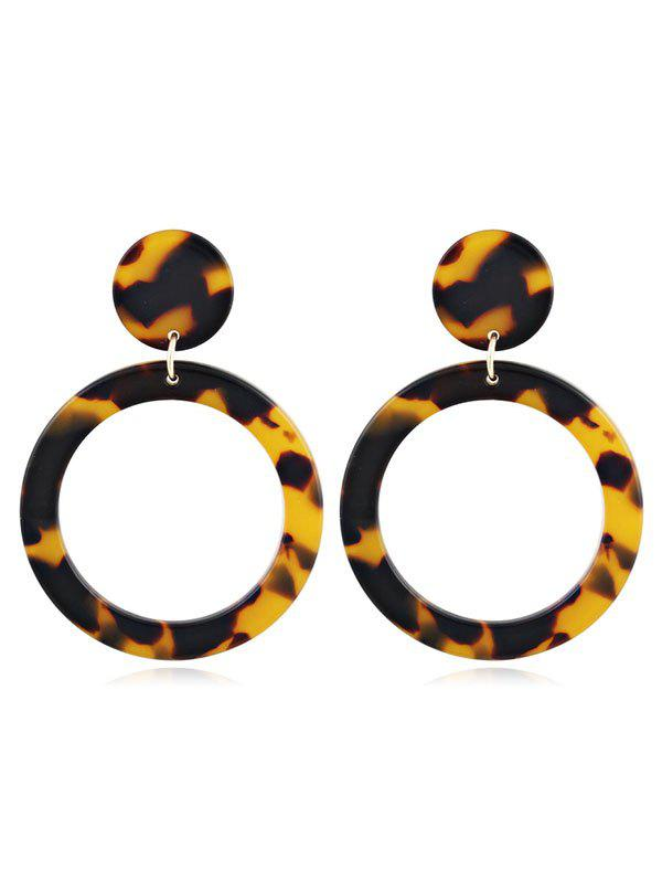 Chic Acrylic Hollow Out Round Leopard Pattern Earrings