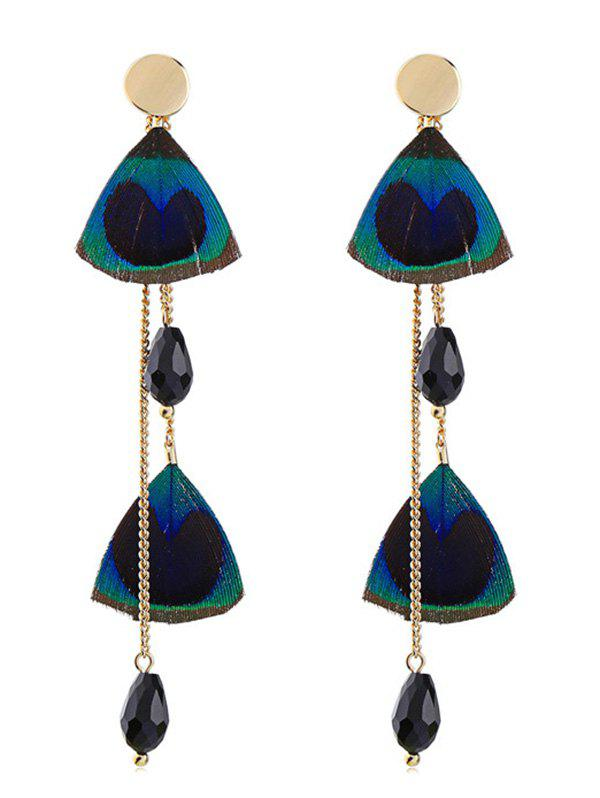 Hot Feather Shape Rhinestone Drop Earrings