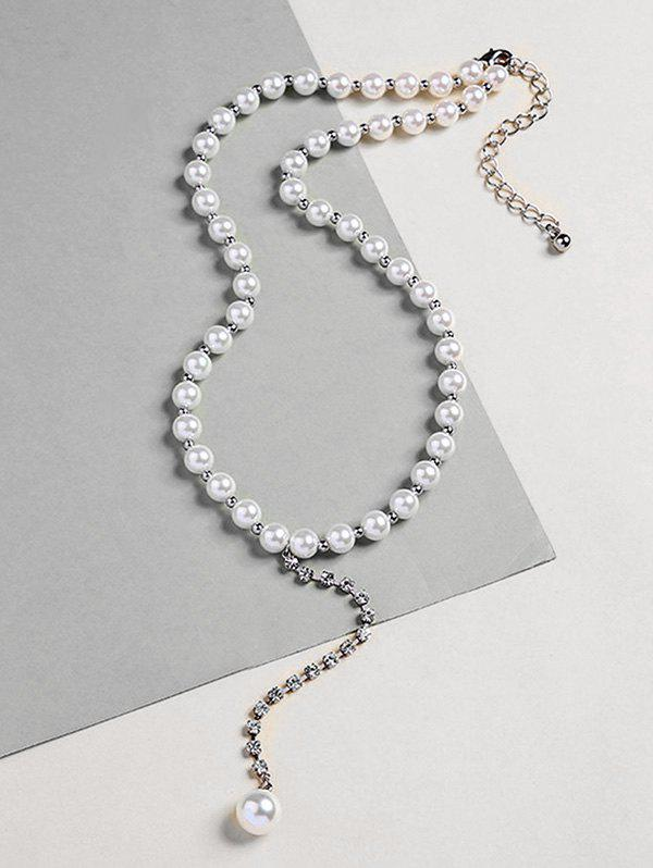 Outfits Rhinestoned Beaded Artificial Pearl Necklace