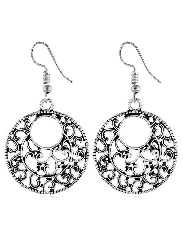 Sale Bohemian Hollow Out Carved Drop Earrings