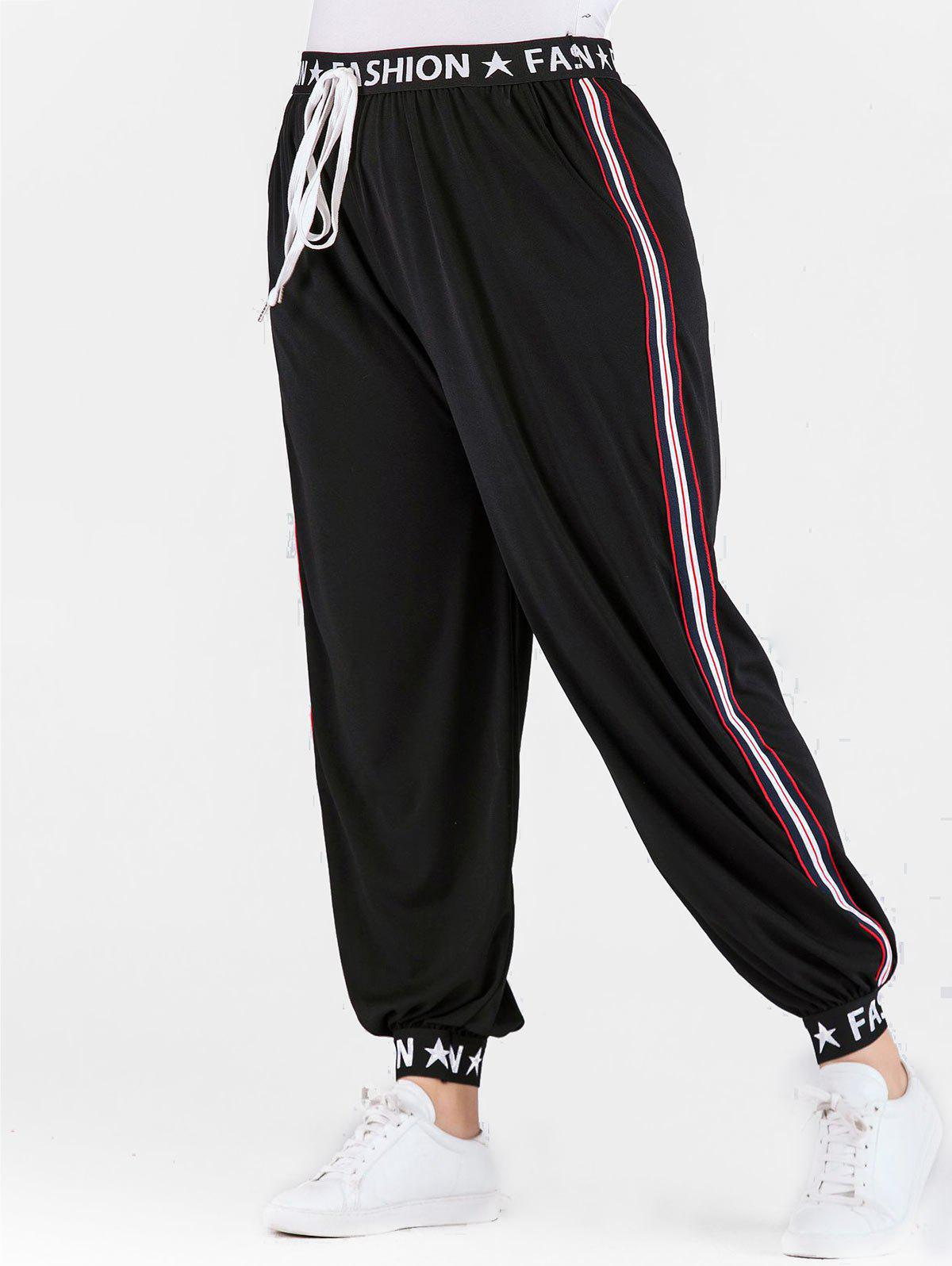 Best Plus Size High Waisted Jogger Pants with Ribbons
