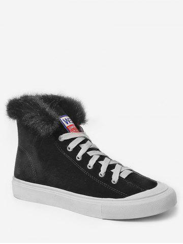 Casual High Top Faux Fur Skate Sneakers
