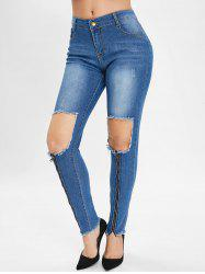 Broken Hole Destroyed Jeans -