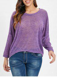 High Low Drop Shoulder Knitwear -