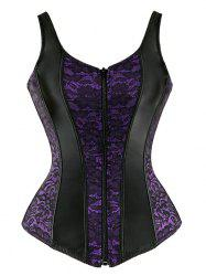 Sweetheart Neck Plus Size Zip Up Corset -