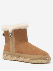 Side Zip Faux Fur Snow Boots -