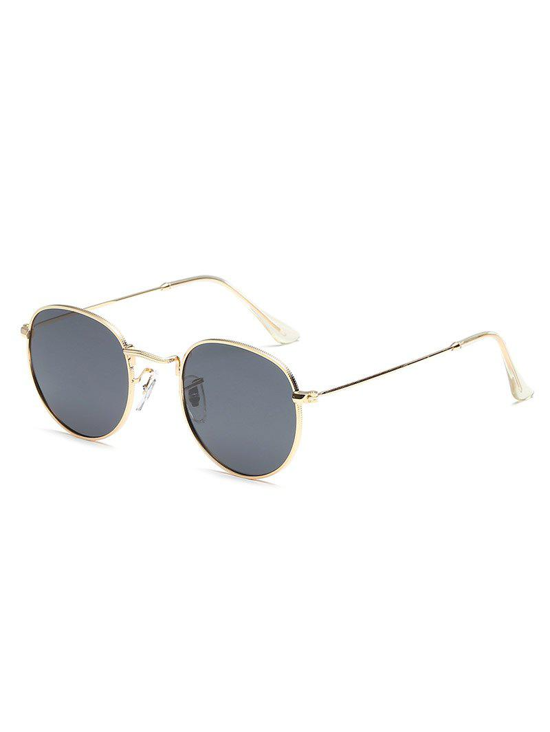 Affordable UV Protection Metal Full Frame Oval Sunglasses