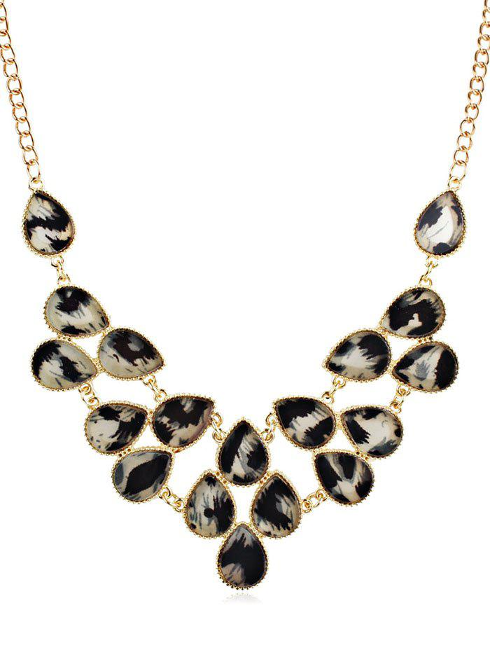 Affordable Rhinestoned Leopard Printed Clavicle Chain Necklace