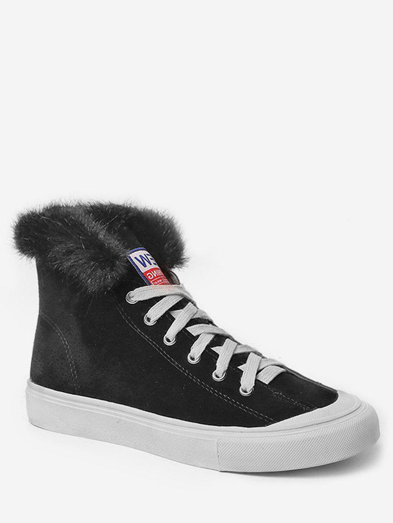 Latest Casual High Top Faux Fur Skate Sneakers