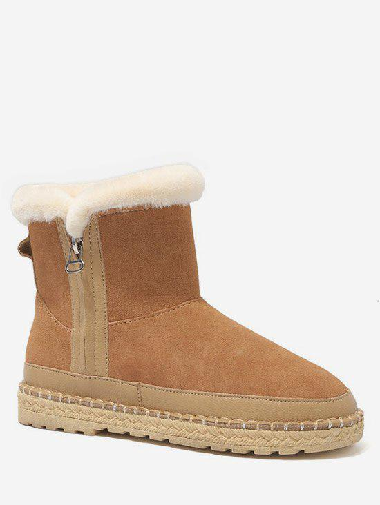 Shops Side Zip Faux Fur Snow Boots