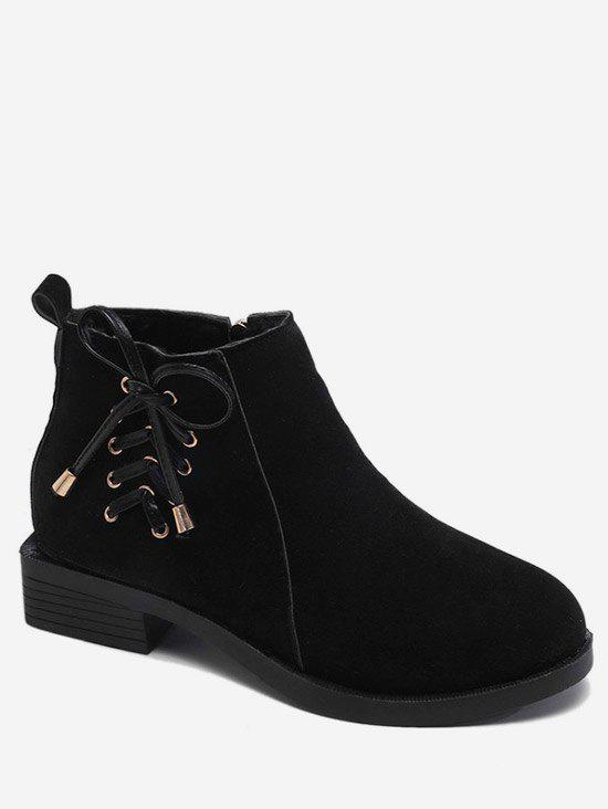 Outfit Lacing Bowknot Suede Ankle Boots