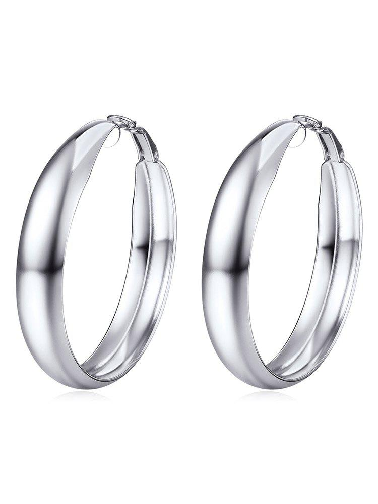 Outfit Metal Design Round Shape Earrings