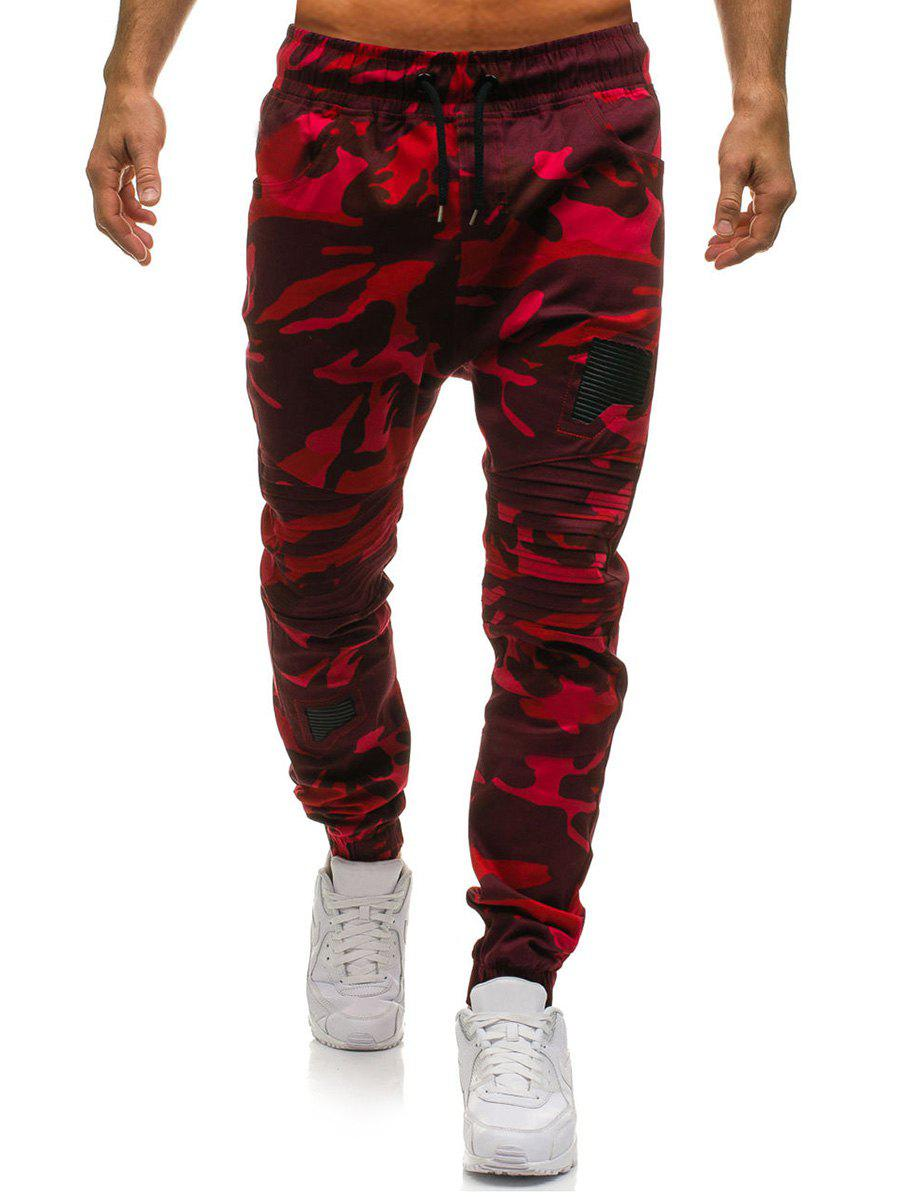 Outfits Layer Patchwork Long Jogger Pants