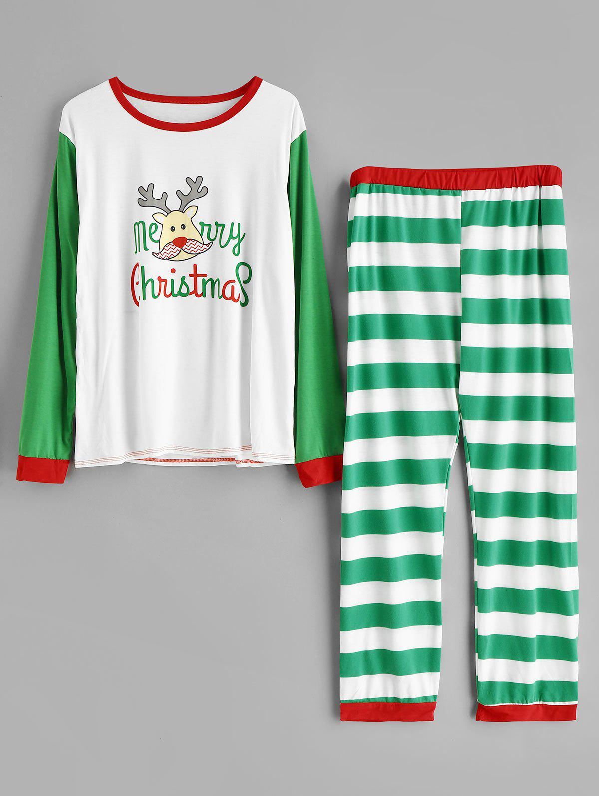 Shop Plus Size Striped Christmas Pajamas Set