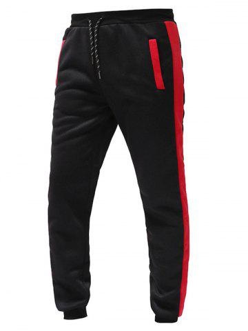 Color Spliced Drawstring Sports Jogger Pants