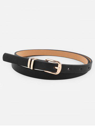 Metal Buckle Artificial Leather Pant Belt