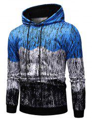 Splash-ink Printed Contract Color Pullover Hoodie -