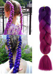 Long Colorful Big Braid Synthetic Hair Extension -