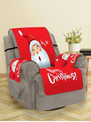 Cute Father Christmas Pattern Couch Cover -