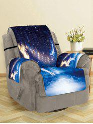 Christmas Starry Sky Deer Pattern Couch Cover -