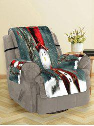 Christmas Snowman Pattern Design Couch Cover -
