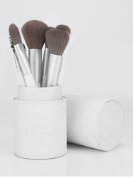 12 Pcs White Handle Soft Handle Makeup Brush Set with Brush Cylinder -