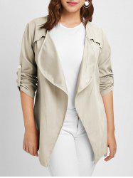 Plus Size Long Sleeves Jacket with Open Front -